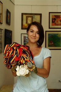 Gabriela medalii